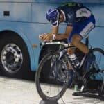 Valverde realizando entrenamiento de rodillo