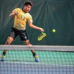 velocidad de reacción en el tenis.