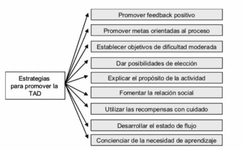 Figura 2. Estrategias para promover la TAD (Moreno & Martínez, 2006)