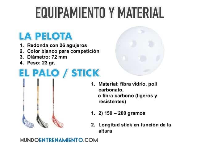 equipamiento del floorball