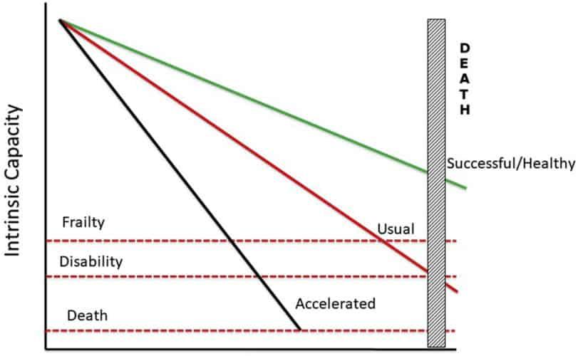 sindrome de fragilidad y riesgo de muerte