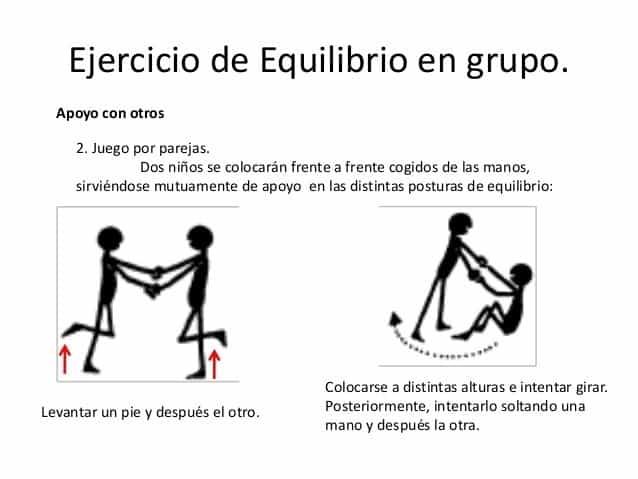 juego de equilibro en educación física