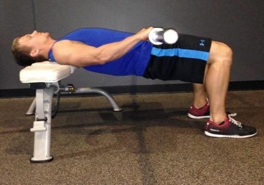 Parte concéntrica del hip thrust