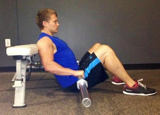 Posición inicial en hip thrust