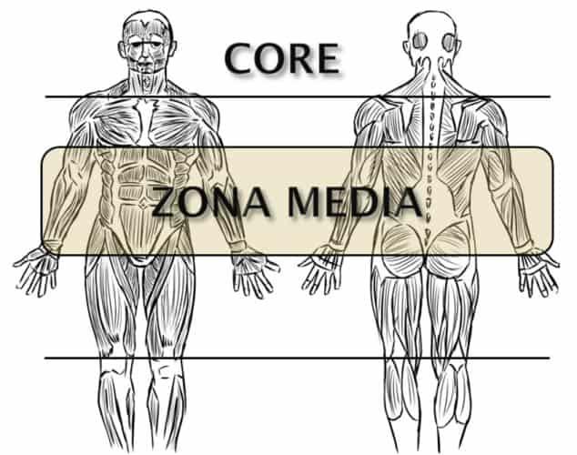diferencia conceptual entre los términos core y zona media