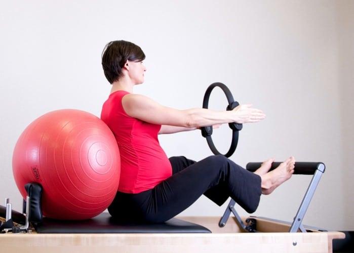 pilates reformer embarazada