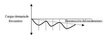 Efecto de las cargas. ciclo de supercompensación